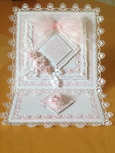 Dies used Tonic Venetian Lace, love the delicate lace feel created by these dies.