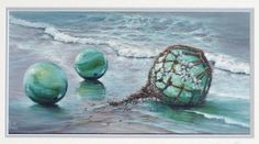 Fishing floats as art. Sea Glass, Glass Art, Midway Atoll, Wave Tattoos, Frog Princess, Nautical Marine, Glass Floats, Beautiful Places To Live, Picture Places