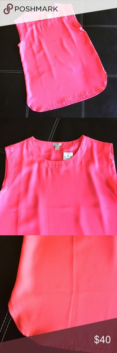Hot Pink J. Crew Shirt Hot Pink J. Crew Shirt. Super cute. Flowy fit. Perfect for those hot spring and summer days. Fun color! 100% Polyester. J. Crew Tops