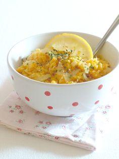 salade de lentilles corail - sauce au curry, miel et citron