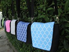Free Shipping by FedEx,Monogramable And High Quality Quatrefoil Camera Crossbody Bag With Padded Material For The Main Body