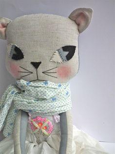 cloth cat glo-in-the-dark beaded dress