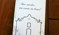 Aviso de Porta - Casamento Renata e Ivan em Trancoso Bahia.