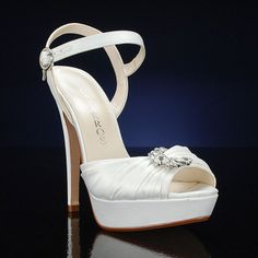 CAPARROS DELIGHT IVORY Wedding and Bridesmaids Shoes IVORY Bridal Shoes