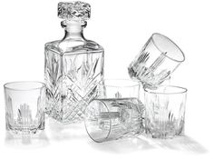 The Bormioli Rocco Whiskey Set includes everything you need to serve your fine whiskey in style. Made from cut glass this whiskey set includes a oz whiskey decanter and six oz whiskey glasses. Whiskey Gift Set, Good Whiskey, Whisky Set, Scotch Whisky, Whiskey Decanter, Whiskey Glasses, Bourbon, Vodka, Anniversary Gifts For Parents