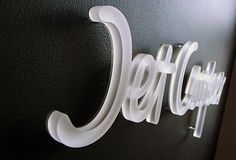 Jet Cooper - 13mm lasercut frosted acrylic, clear backpanel pin mounted with 13mm spacer
