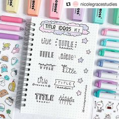 Bullet Journal Layout Ideas: 29 Unbelievably Gorgeous Spreads To Try – The Gorgeous List Bullet Journal Inspo, Bullet Journal Writing, Bullet Journal Headers, Bullet Journal Banner, Bullet Journal Aesthetic, Bullet Journal 2019, Bullet Journal Ideas Pages, Bullet Journal Spread, Bullet Journal Layout