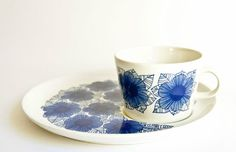 Arabia Finland Malva - Breakfast or TV Plate and Coffee Cup Duo $95