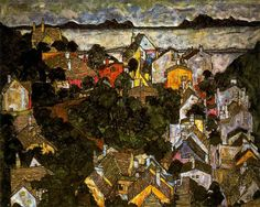 Schiele, Egon (1890-1918) - 1917 Summer Landscape (Private Collection) | Flickr - Photo Sharing!