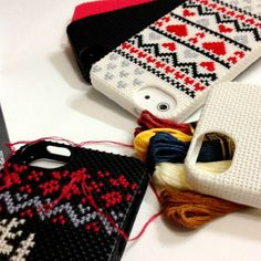 Pin for Later: 25 Ways to DIY a Killer Phone Case Needlepoint Buy your own kit. Source: Connect Design