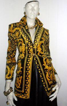 Stunning Versace  baroque jacket.