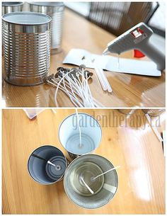 DIY Citronella Candles in Cans Tutorial! Perfect for the summer, or as a gift, I'm making theses for sure!!