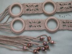 crochet belt for girls with beads & circles - crafts ideas - crafts for kids