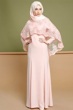 MZ Garment Muslim Long Sleeve Dress With Mesh Removable For Women Kaftan Dubai Islamic Clothing Solid Color Lace Gown For Girls - Muslim Shops - High Quality Islamic Clothing Abaya Mode, Mode Hijab, Islamic Fashion, Muslim Fashion, Abaya Fashion, Fashion Dresses, Maxi Dresses, Kebaya Hijab, Dress Brokat