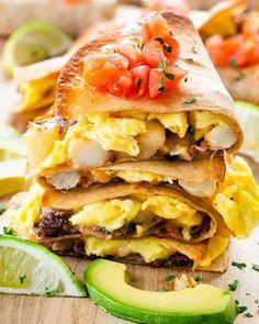 Breakfast Quesadillas - Jo Cooks Easy To Make Breakfast, Best Breakfast, Breakfast Recipes, Breakfast Ideas, Breakfast Sandwiches, Pozole, Quesadillas, Baked Ranch Chicken, Cheesy Chicken