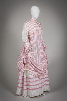 "fripperiesandfobs: ""Day dress ca. 1875 From the Gemeentemuseum Den Haag """
