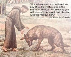 If you have men who will exclude any of God's creatures from the shelter of compassion and pity, you have men who will deal likewise with their fellow men. ~ St Francis of Assisi Dog Quotes, Animal Quotes, Life Quotes, Animal Rescue Quotes, Dog Poems, St. Francis, Compassion, Dog Love, Prayers