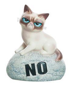 Loving this Grumpy Cat 'No' Stone on #zulily! #zulilyfinds