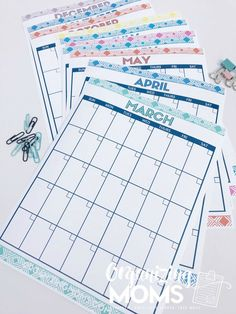 There are so many ways to use monthly calendars for planning! I like to print multiples of this free printable to use for different purposes.