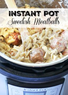 Instant Pot Swedish Meatballs recipe that's creamy, dreamy, and super delicious . - Instant Pot Swedish Meatballs recipe that's creamy, dreamy, and super delicious stroganoff style - Instant Pot Pressure Cooker, Pressure Cooker Recipes, Pressure Cooking, Meatballs In Pressure Cooker, Slow Cooker, Pressure Pot, Meatball Stroganoff, Stroganoff Recipe, Swedish Meatball Recipes