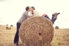 Pose with hay-bale