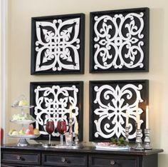Nice And New Ballard Design Black White Pattern Plaques