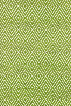 Diamond Rug Sprout White Lime Green Rugkitchen