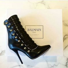 Balmain, boots, and heels image Hot Shoes, Crazy Shoes, Me Too Shoes, Shoes Heels, Heeled Boots, Bootie Boots, Shoe Boots, Ankle Booties, Stilettos