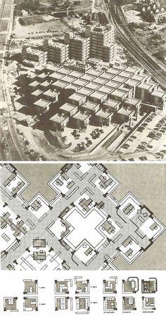 Central Beheer Office Complex, Apeldoorn, Holland Herman Hertzberger, 1972