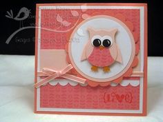 """Such a precious """"Get Well"""" or """"I'm sorry"""" card using the .owl punch:) by karen"""
