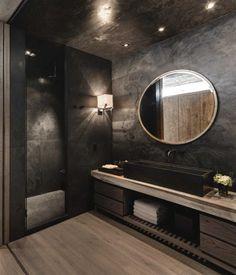 Black Bathroom // El Mirador House // CC Arquitectos