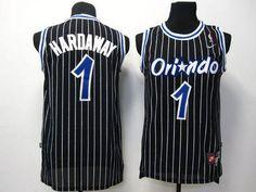 352109d0611 Magic  1 Penny Hardaway Black Throwback Stitched NBA Jersey