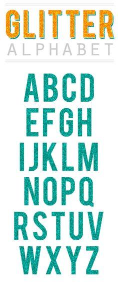 Glitter Alphabet Clipart