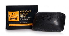 Nubian African Black Soap 5 Ounce (4 Pack) Nubian Heritage
