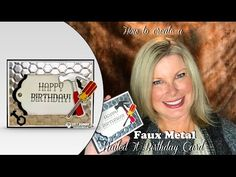 How to make Faux Metal Background and Accessories with Stampin Up Nailed It - YouTube