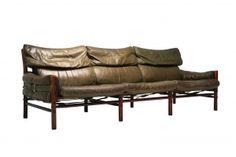 Kontiki Three Seater Sofa by Arne Norell, 1 Mid Century Modern Furniture, Modern Sofa, Modern Chairs, Cool Furniture, Outdoor Furniture, Three Seater Sofa, Sofa Shop, Vintage Sofa, Scandinavian Furniture