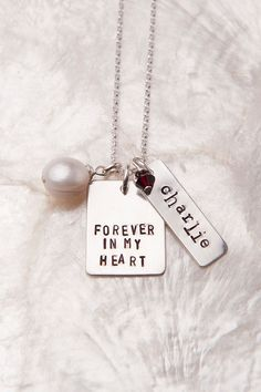 Forever in My Heart Birth mom Necklace by therhouse, $45.00 Gift for birth moms to receive at placement! Also meaningful bereavement necklace.