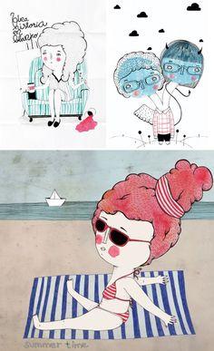 A splash of drawings by Wawa - www.imaginativebloom.com