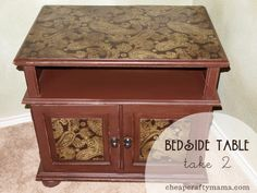 Mod Podge Furniture Ideas   Mod Podge beside table DIY