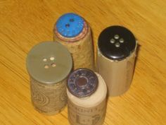 button stamps on wine corks