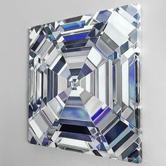 """A close-up of my newest release! """"Elle"""" the asscher cut diamond is now available as a hand-finished giclée print on canvas starting at $350. Click the link in my bio to purchase ✨ (angiecrabtree.com/canvas) #diamondpainter #asschercut #diamondlife"""