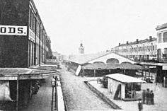 Poydras Market neutral ground of Poydras from Baronne St to Rampart St 1867. Was once part of Julien Poydras plantation