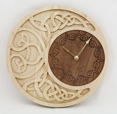 Clock Celtic Moon Personalized от krtwood на Etsy