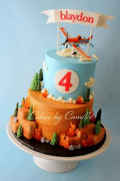 Planes Fire and Rescue Cake, Dusty Crophopper Cake, Cakes by Camille