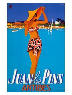 Juan les Pins  #france #pacatourism #pacatourisme #PACA #provencal #sea #beach #tourism #tourisme #tourismepaca #tourismpaca #travel #vintage #poster #cotedazur