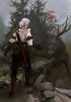 Ciri by Sergey Pervukhin/The Witcher Witcher 3 Art, The Witcher Game, The Witcher Books, Geralt Of Rivia, Ciri, Witcher Wallpaper, Alien Creatures, Wild Hunt, Medieval Fantasy