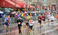 I am training for my first half marathon, and our group was caught last night in heavier than expected rain as temperatures dropped. What gear do you recommend for running in the rain in both cooler and warmer temperatures? —Andrea