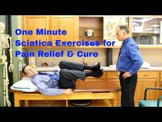 One Minute Sciatica Exercises for Quick Pain Relief & Cure of Sciatic Pain - YouTube