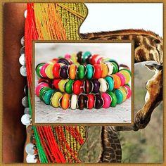 Rainbow Bracelet African Bracelets for Women Beaded Tribal Style, Boho Style, African Bracelets, Beaded Bracelets, Tribal Fashion, Boho Fashion, Modern Gypsy, Gypsy Jewelry, As You Like
