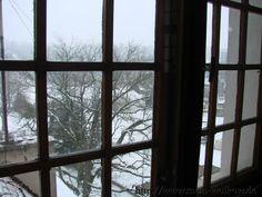 Schloss Łagów im Winter zum Valentinstag